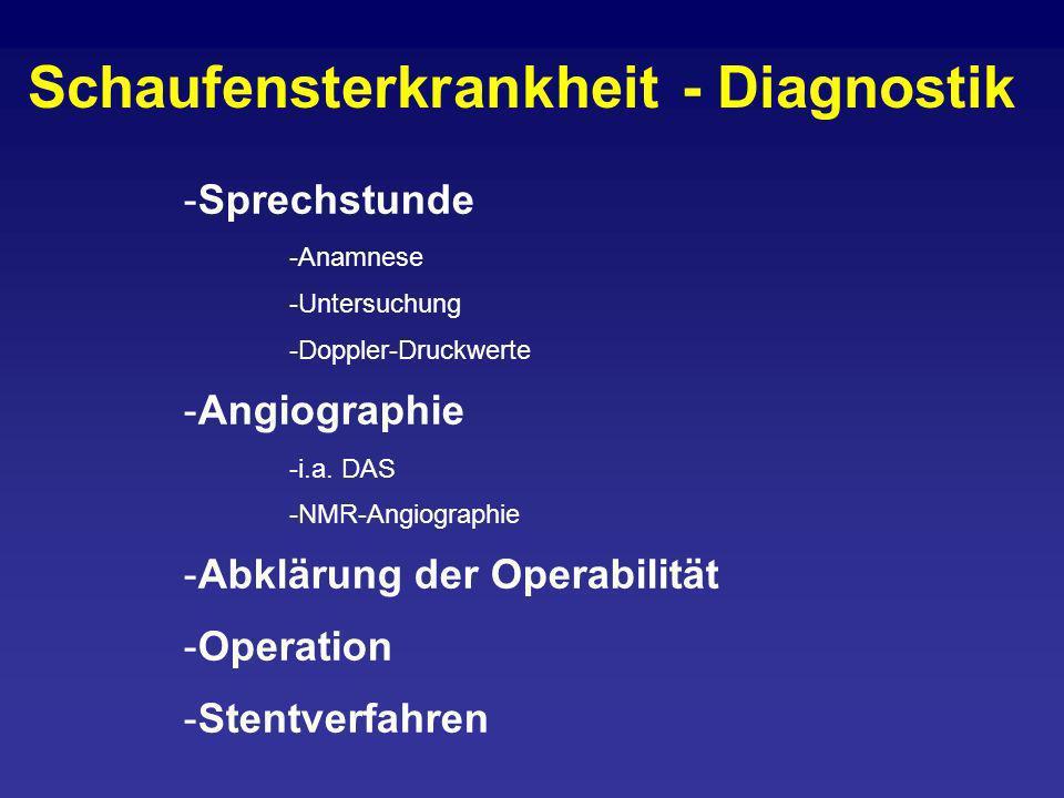 Schaufensterkrankheit - Diagnostik