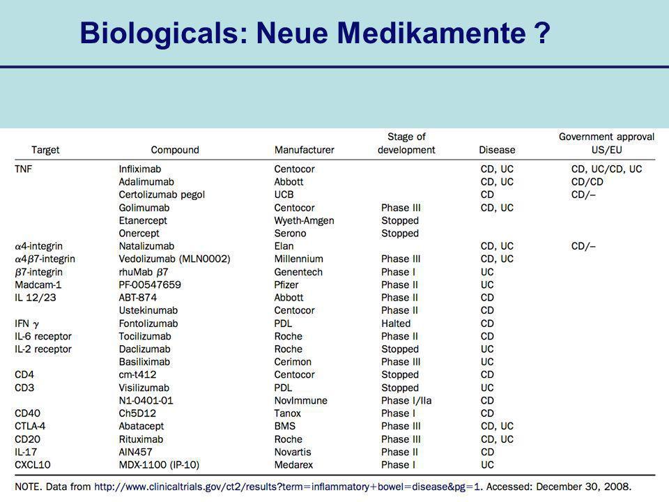 Biologicals: Neue Medikamente