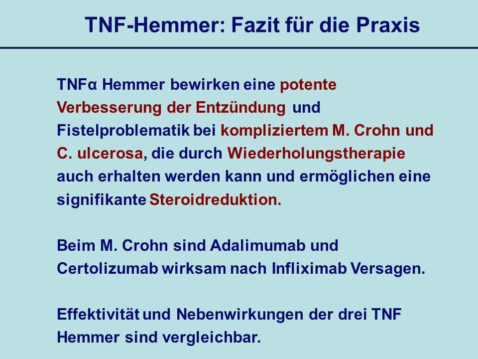 TNF-Hemmer: Fazit für die Praxis