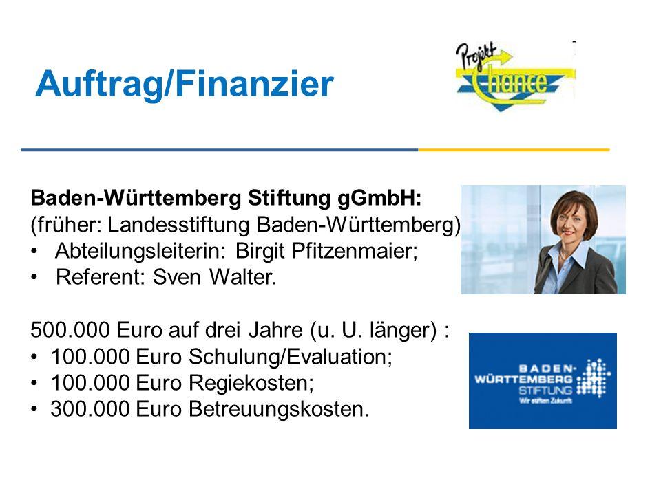 Auftrag/Finanzier Baden-Württemberg Stiftung gGmbH: