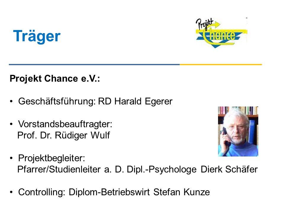 Träger Projekt Chance e.V.: Geschäftsführung: RD Harald Egerer