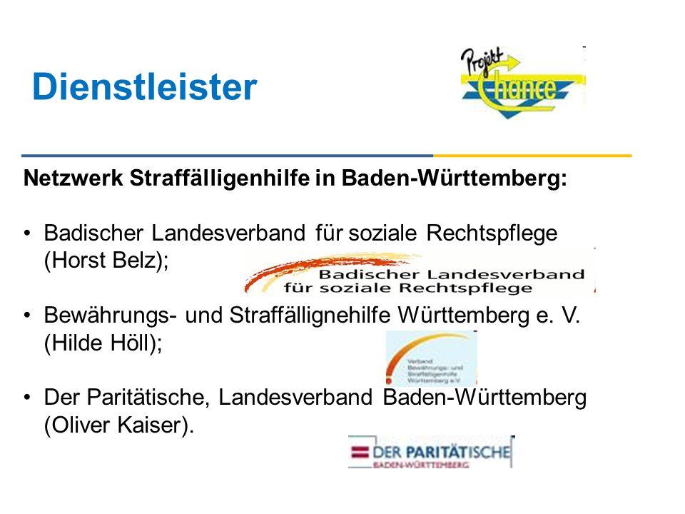 Dienstleister Netzwerk Straffälligenhilfe in Baden-Württemberg: