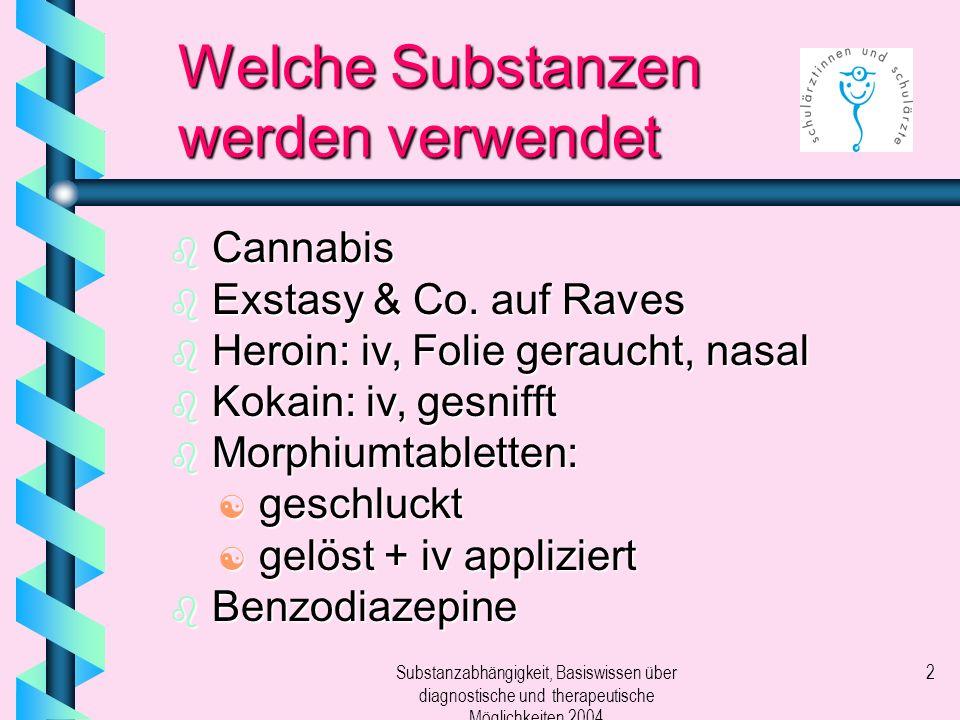 Welche Substanzen werden verwendet