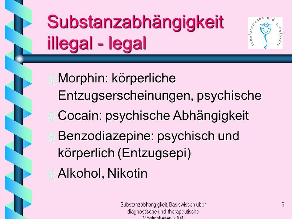 Substanzabhängigkeit illegal - legal