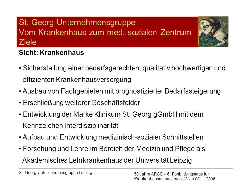 St. Georg Unternehmensgruppe Vom Krankenhaus zum med