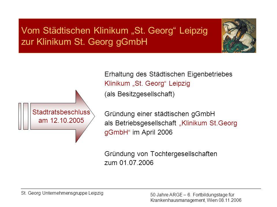 """Vom Städtischen Klinikum """"St. Georg Leipzig zur Klinikum St"""