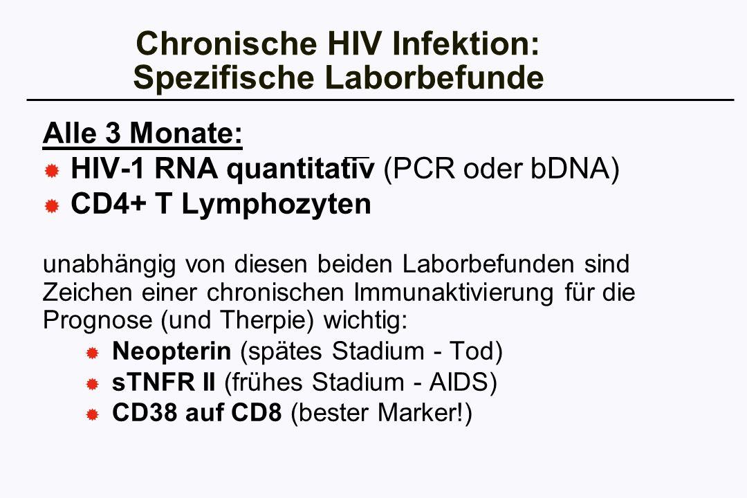 Chronische HIV Infektion: Spezifische Laborbefunde