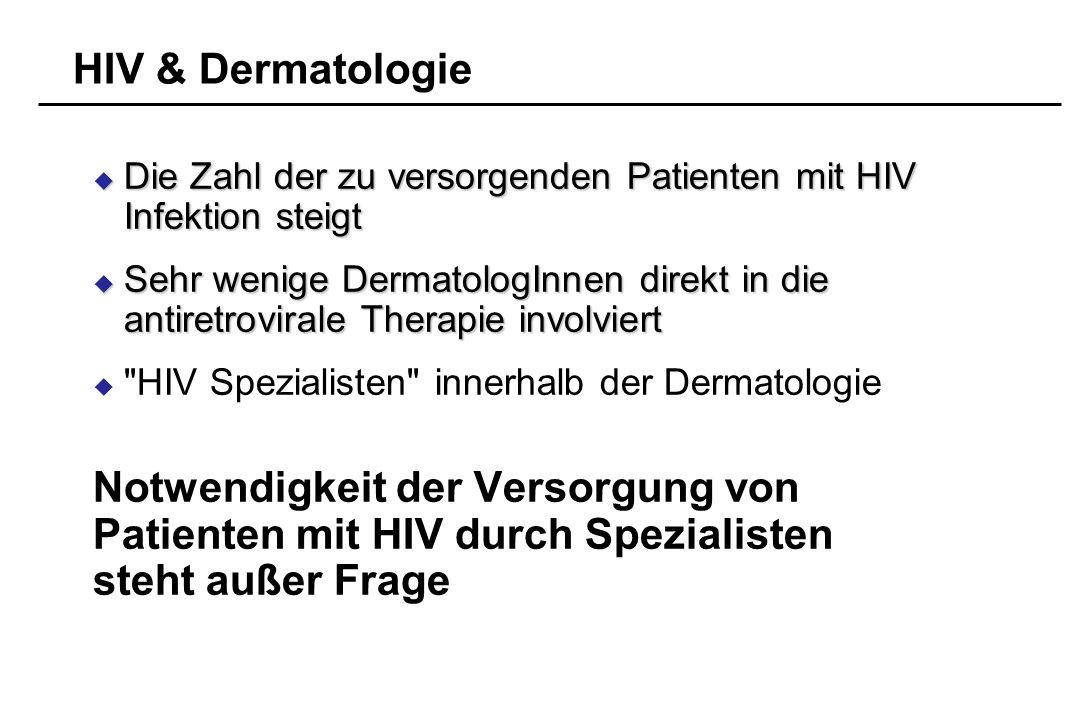 Notwendigkeit der Versorgung von Patienten mit HIV durch Spezialisten
