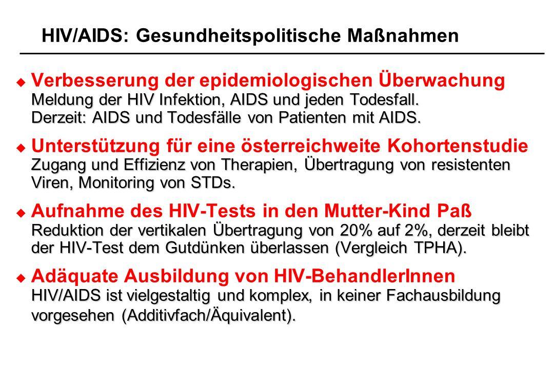 HIV/AIDS: Gesundheitspolitische Maßnahmen