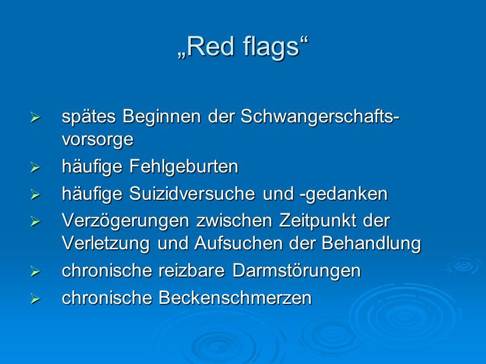 """""""Red flags spätes Beginnen der Schwangerschafts-vorsorge"""