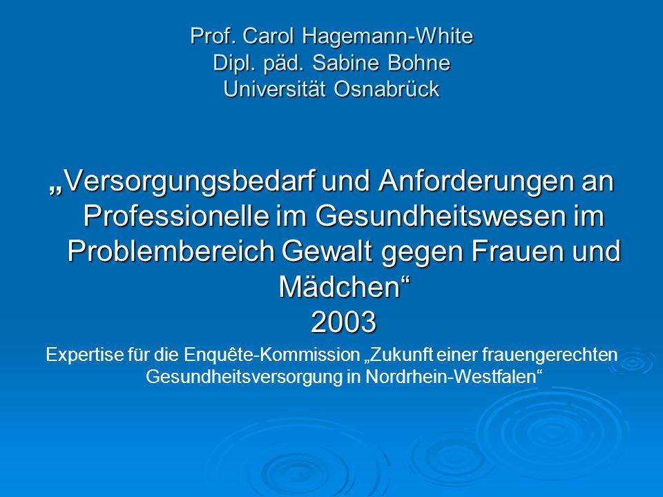 Prof. Carol Hagemann-White Dipl. päd