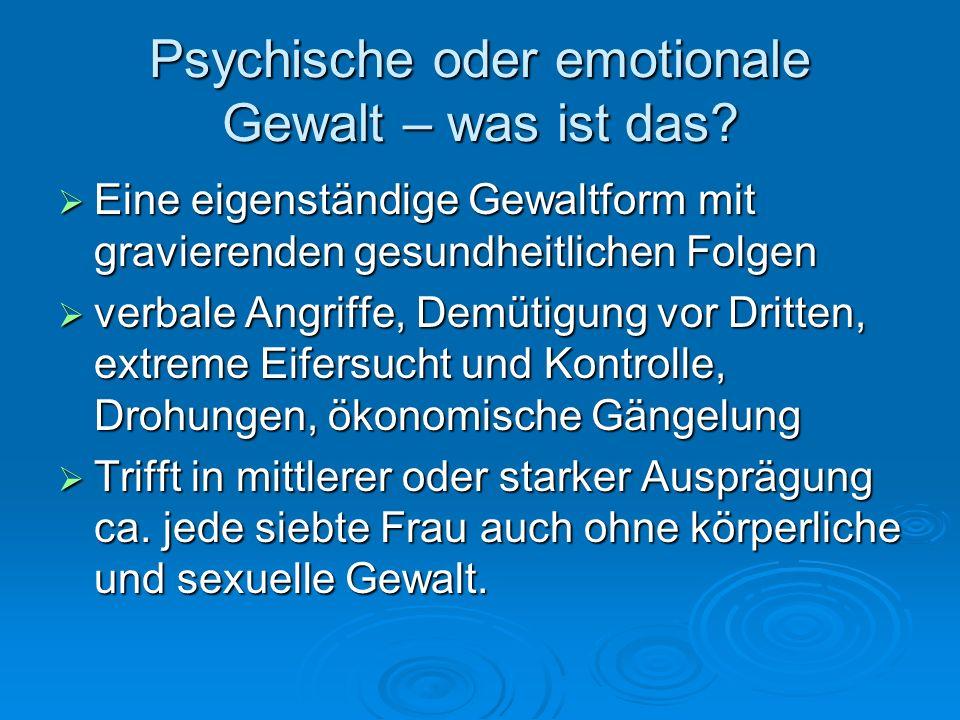 Psychische oder emotionale Gewalt – was ist das