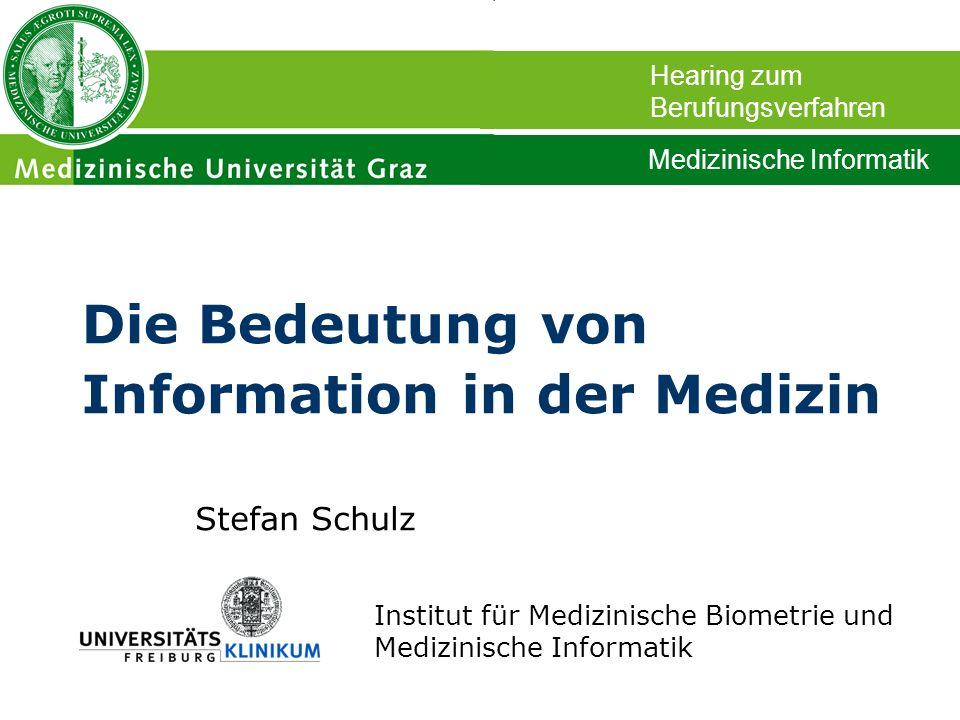 Die Bedeutung von Information in der Medizin
