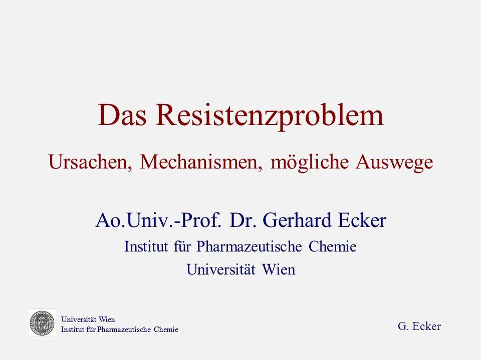 Das Resistenzproblem Ursachen, Mechanismen, mögliche Auswege
