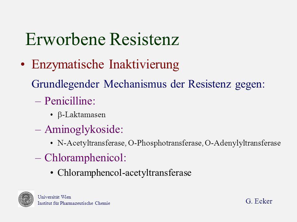 Erworbene Resistenz Enzymatische Inaktivierung