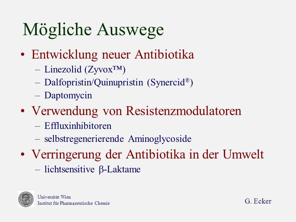 Mögliche Auswege Entwicklung neuer Antibiotika