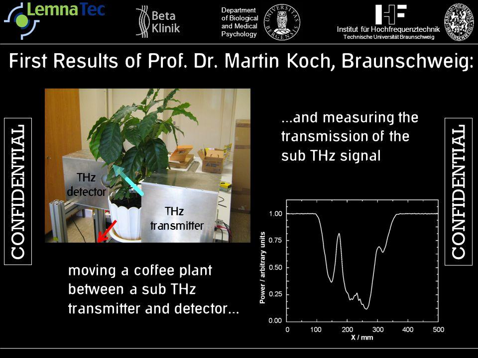 First Results of Prof. Dr. Martin Koch, Braunschweig:
