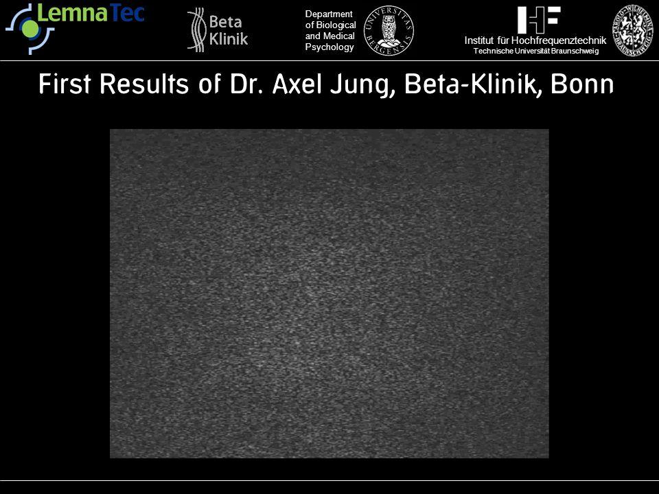 First Results of Dr. Axel Jung, Beta-Klinik, Bonn