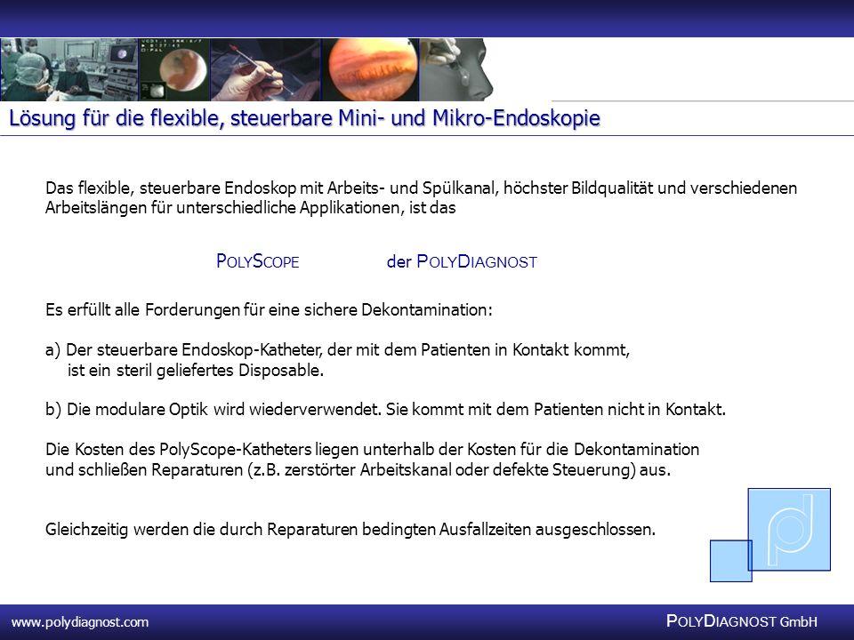 Lösung für die flexible, steuerbare Mini- und Mikro-Endoskopie