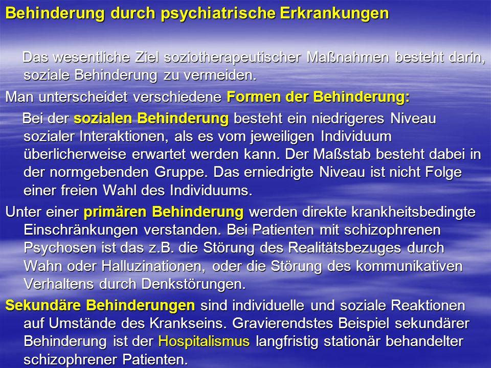 Behinderung durch psychiatrische Erkrankungen