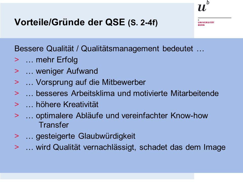 Vorteile/Gründe der QSE (S. 2-4f)