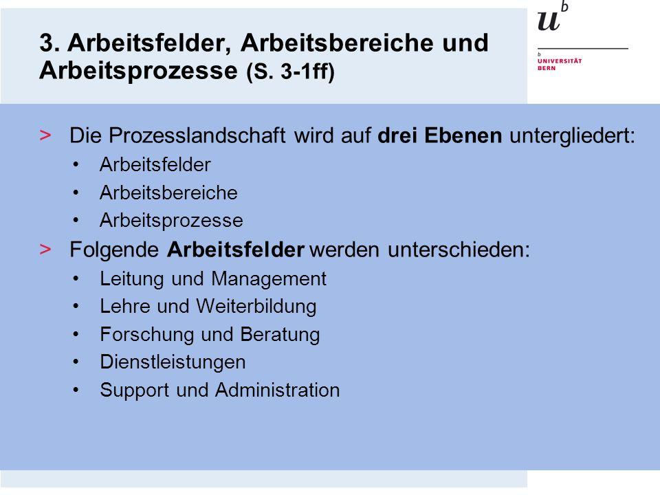3. Arbeitsfelder, Arbeitsbereiche und Arbeitsprozesse (S. 3-1ff)