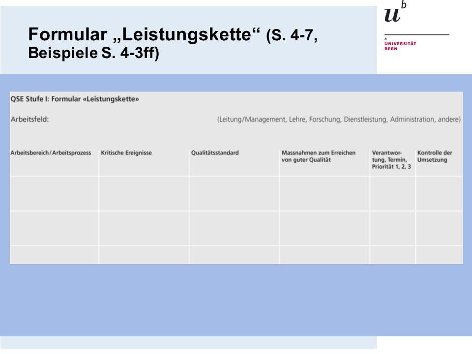 """Formular """"Leistungskette (S. 4-7, Beispiele S. 4-3ff)"""