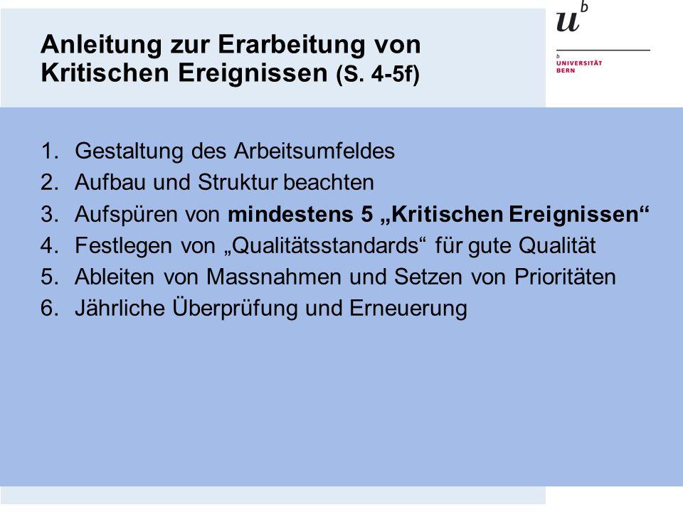 Anleitung zur Erarbeitung von Kritischen Ereignissen (S. 4-5f)