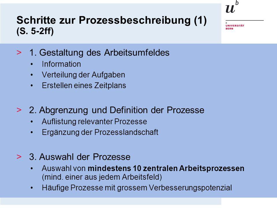 Schritte zur Prozessbeschreibung (1) (S. 5-2ff)
