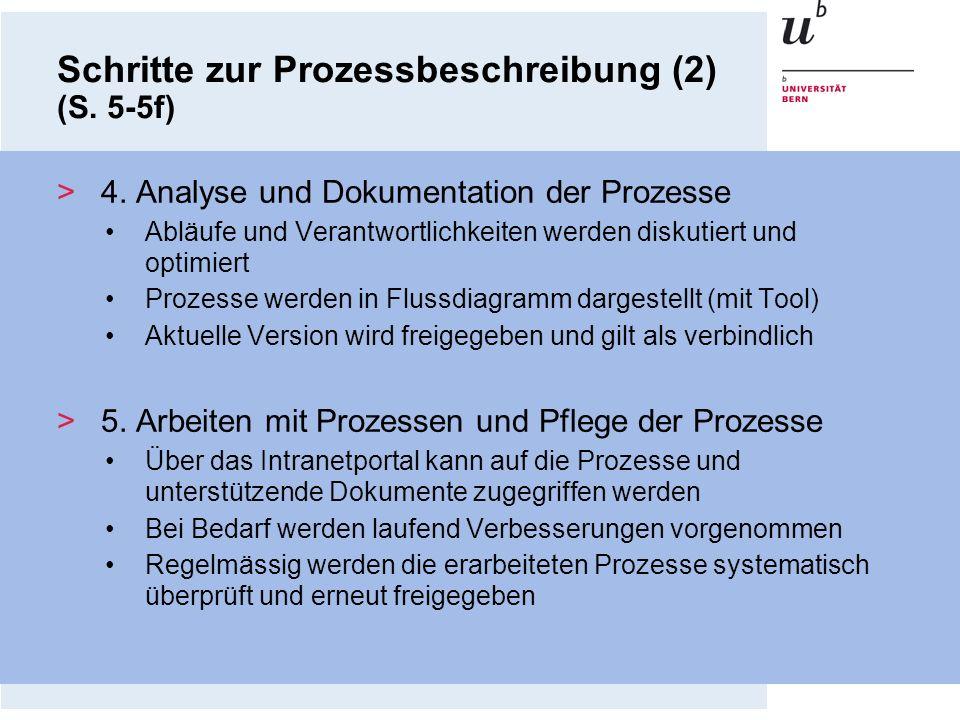 Schritte zur Prozessbeschreibung (2) (S. 5-5f)