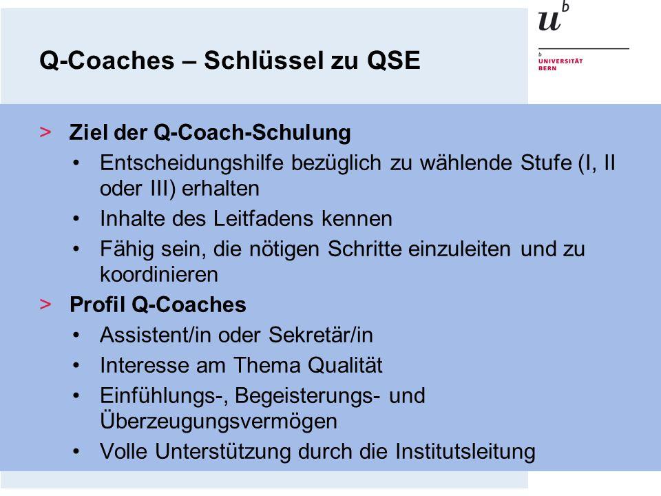 Q-Coaches – Schlüssel zu QSE