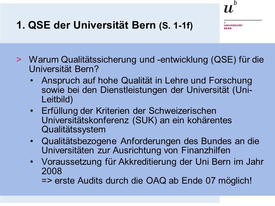 1. QSE der Universität Bern (S. 1-1f)