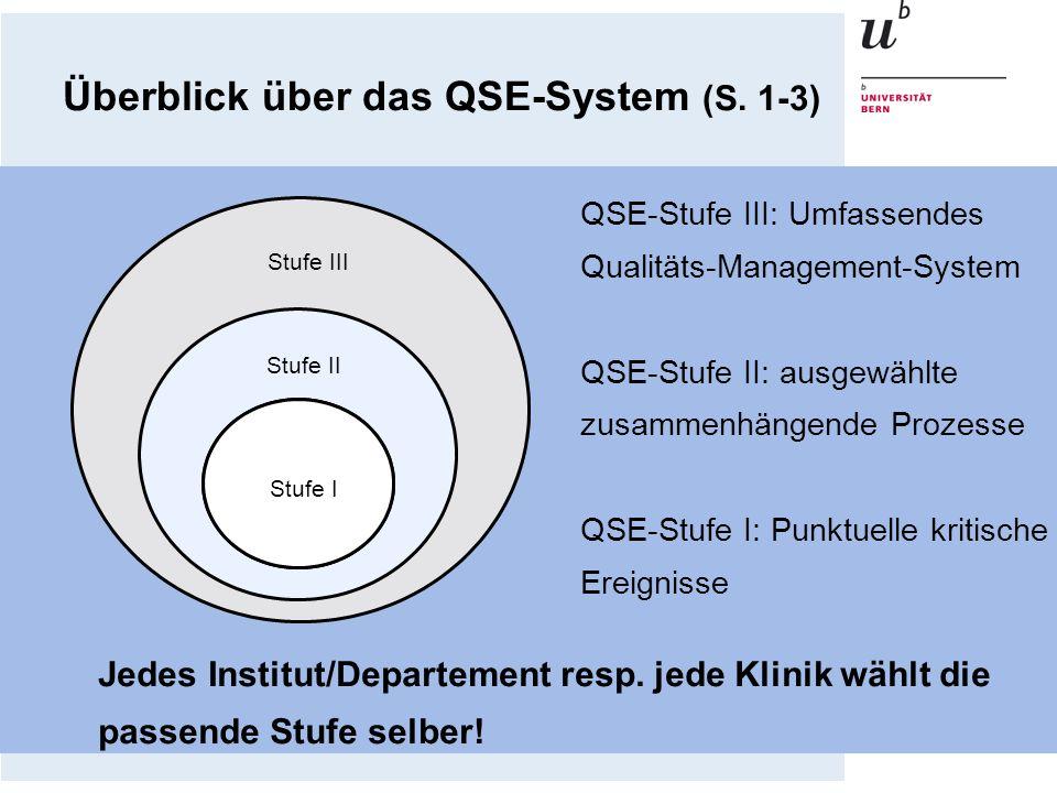 Überblick über das QSE-System (S. 1-3)