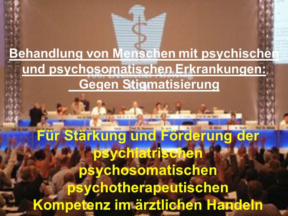 Für Stärkung und Förderung der psychiatrischen psychosomatischen