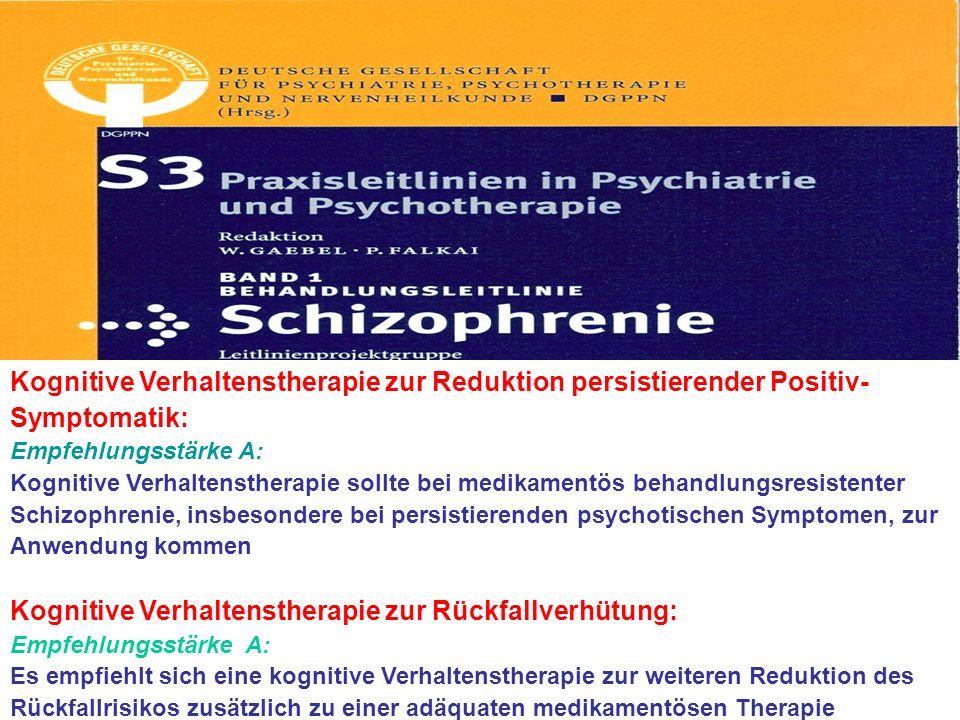 Kognitive Verhaltenstherapie zur Rückfallverhütung: