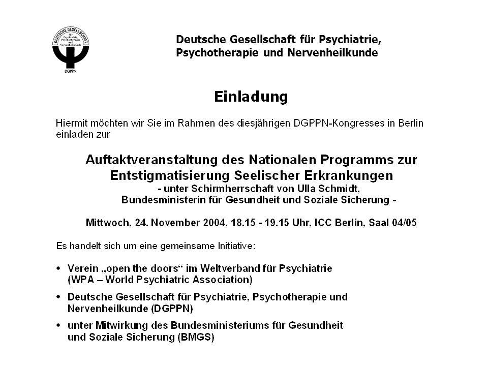 Deutsche Gesellschaft für Psychiatrie,