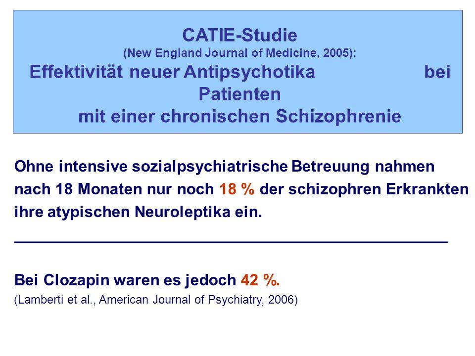 Effektivität neuer Antipsychotika bei Patienten