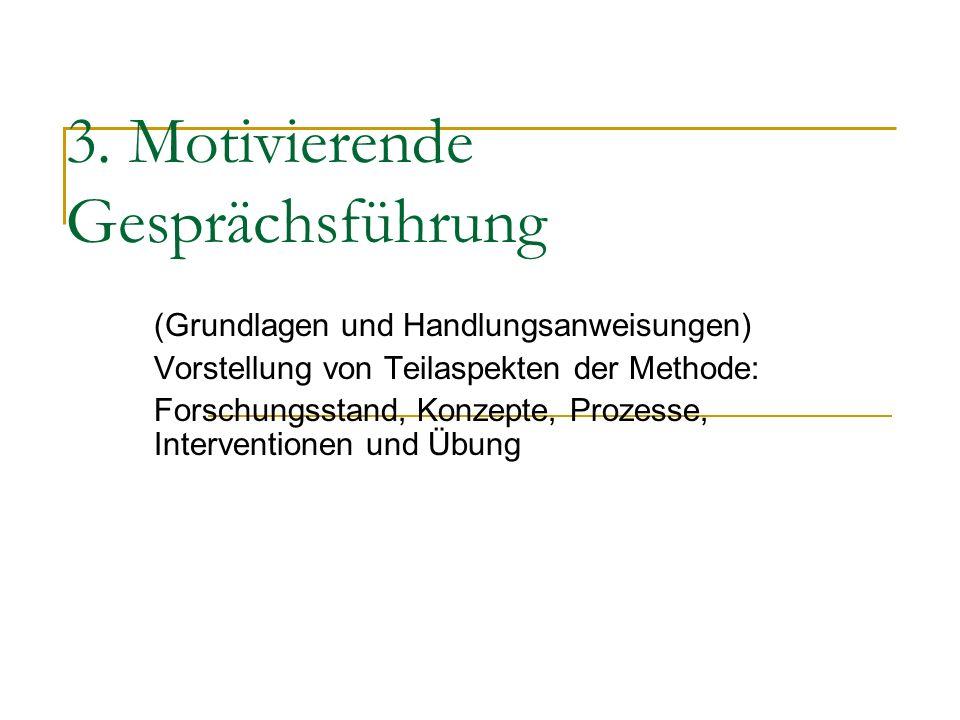 3. Motivierende Gesprächsführung