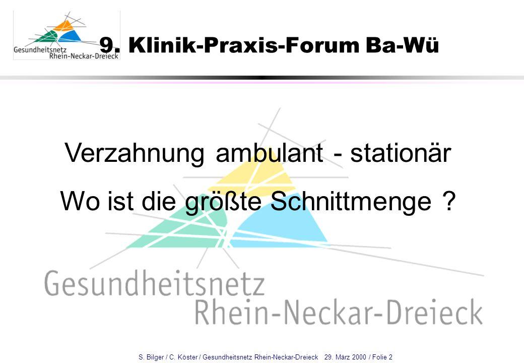 9. Klinik-Praxis-Forum Ba-Wü