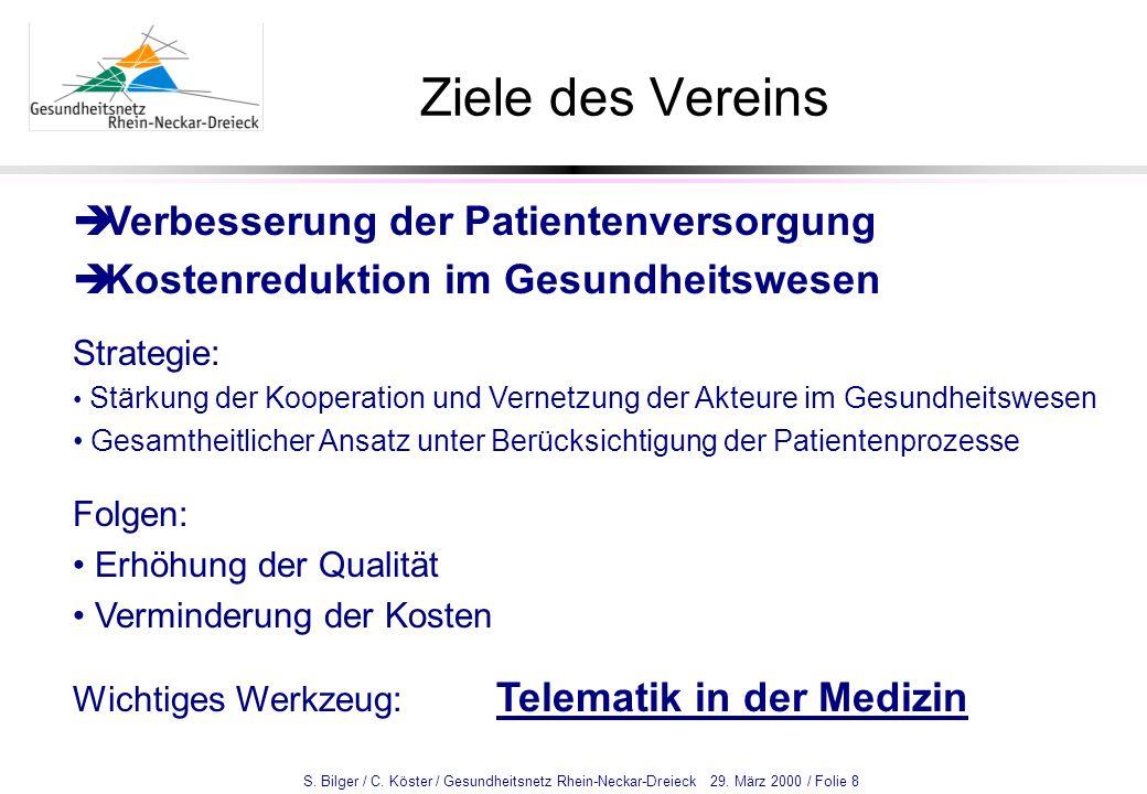 Ziele des Vereins Verbesserung der Patientenversorgung