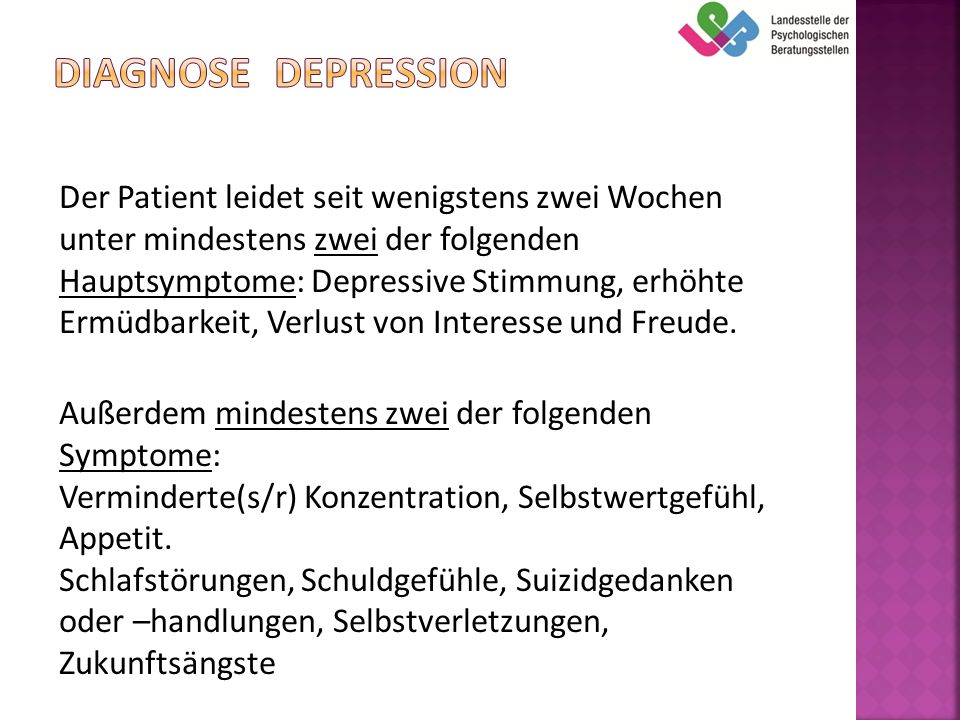Diagnose Depression
