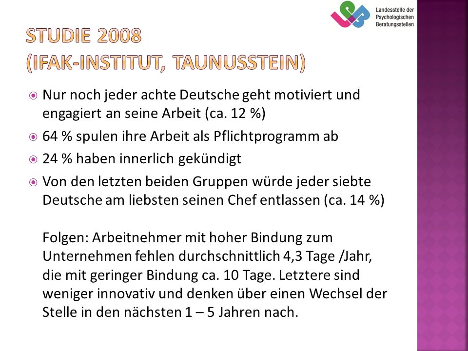 Studie 2008 (Ifak-Institut, Taunusstein)