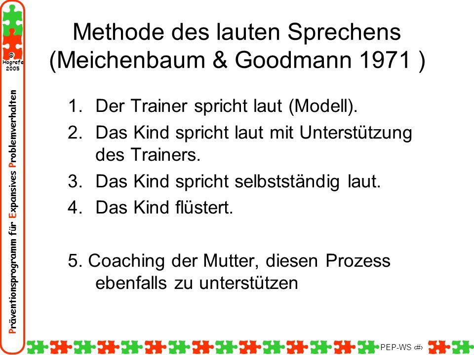 Methode des lauten Sprechens (Meichenbaum & Goodmann 1971 )