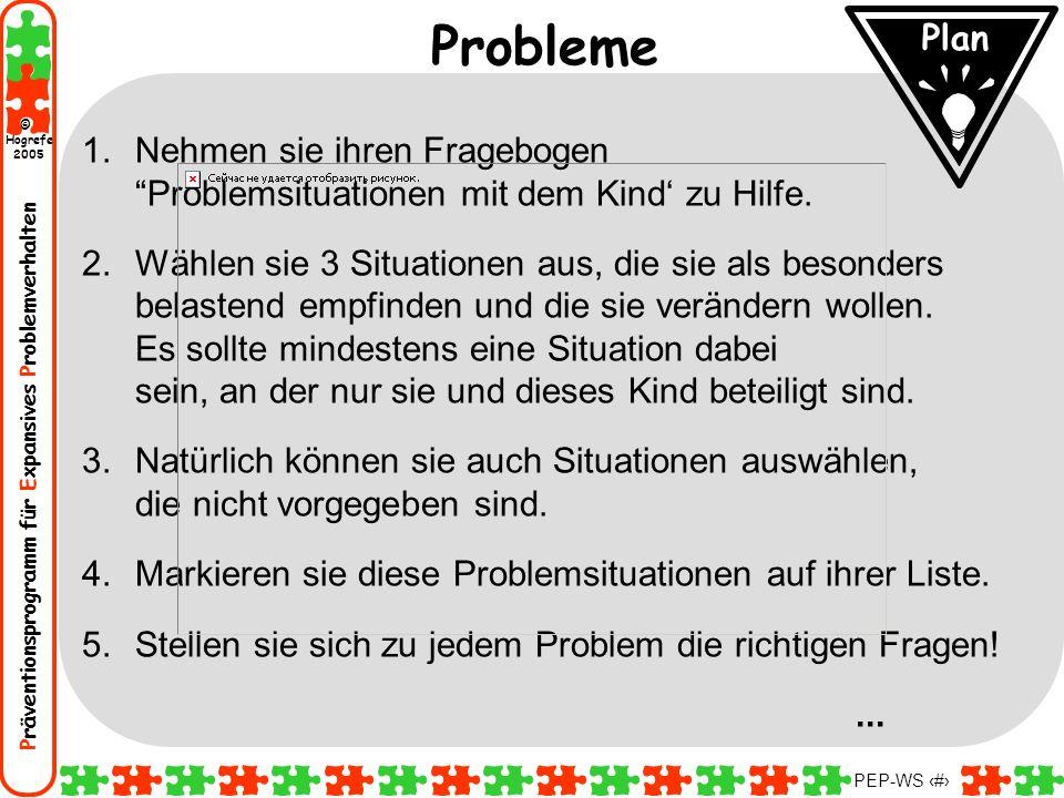 Probleme Plan. Nehmen sie ihren Fragebogen Problemsituationen mit dem Kind' zu Hilfe.