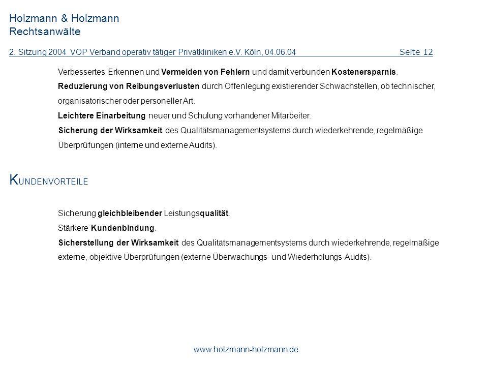 KUNDENVORTEILE Holzmann & Holzmann Rechtsanwälte