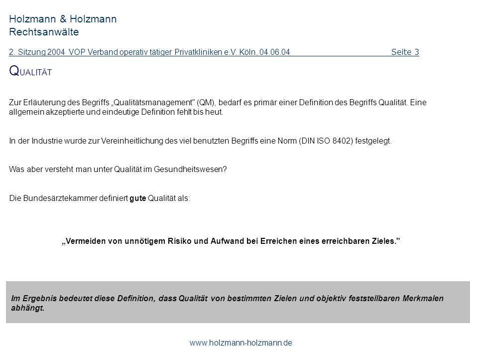QUALITÄT Holzmann & Holzmann Rechtsanwälte