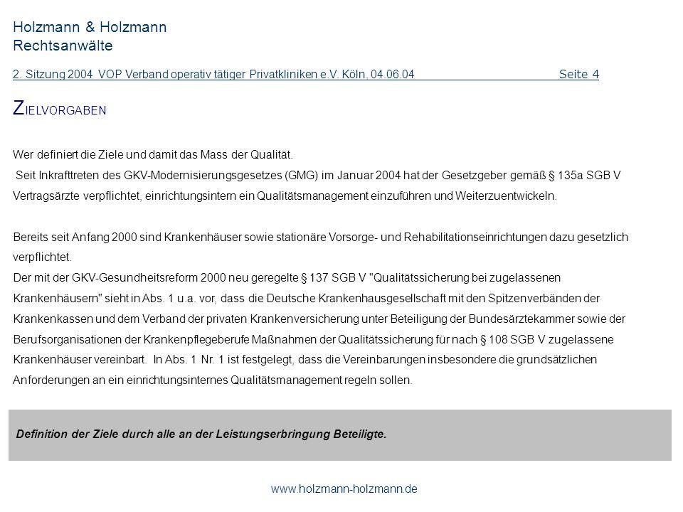 ZIELVORGABEN Holzmann & Holzmann Rechtsanwälte