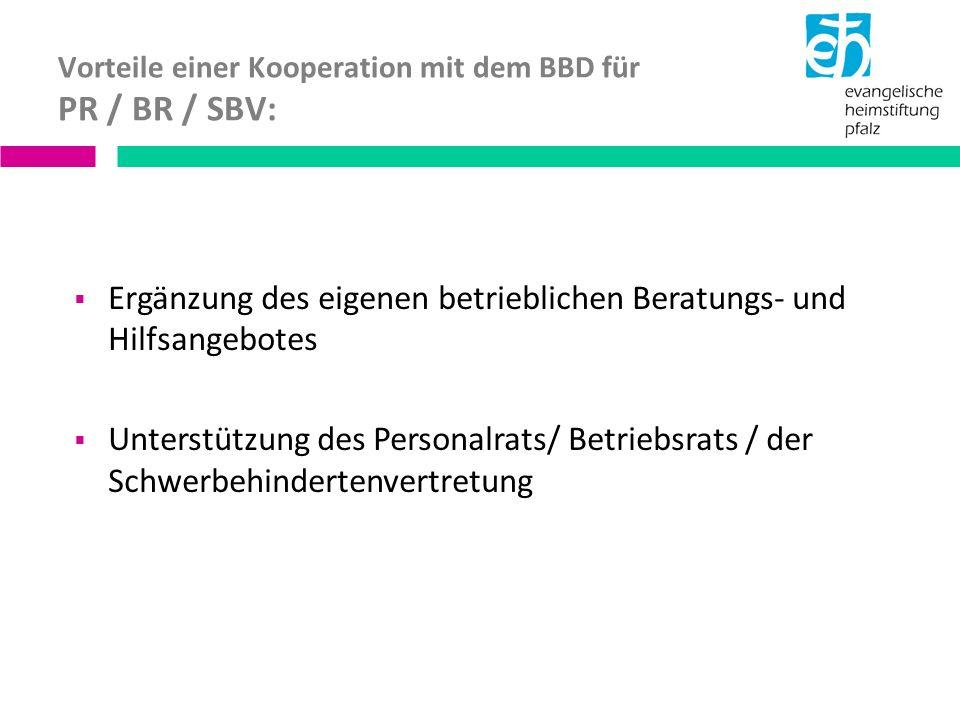 Vorteile einer Kooperation mit dem BBD für PR / BR / SBV: