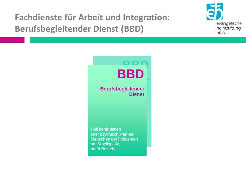Fachdienste für Arbeit und Integration: Berufsbegleitender Dienst (BBD)