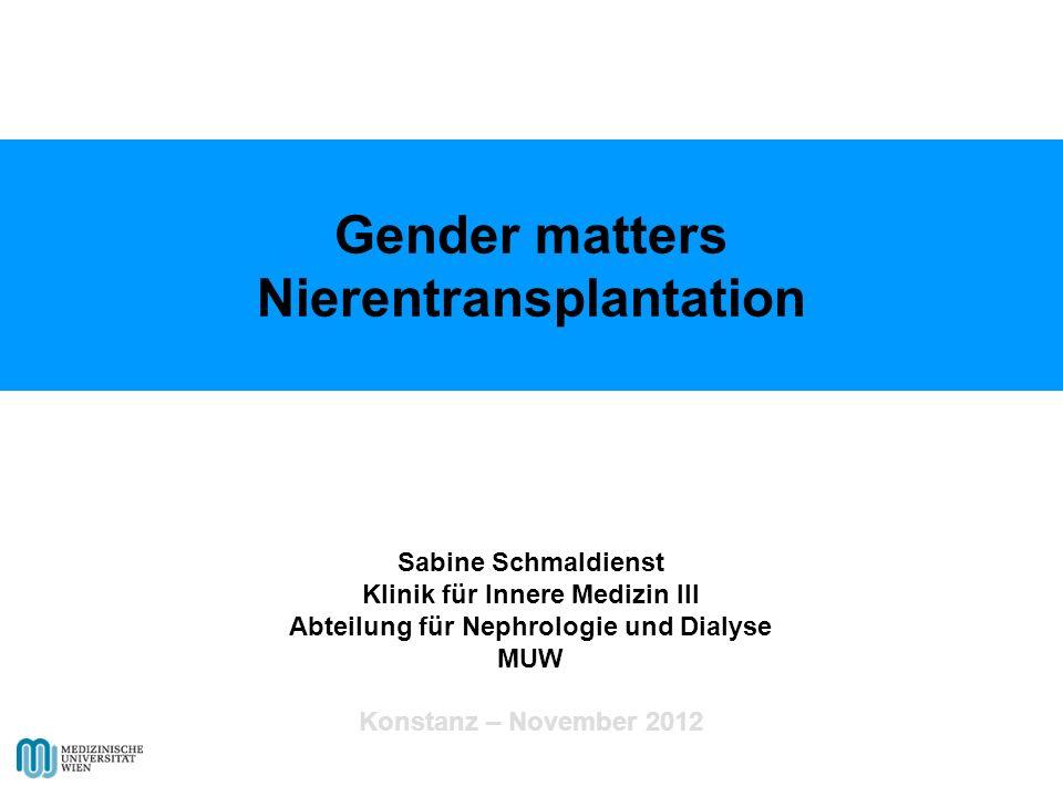 Gender matters Nierentransplantation
